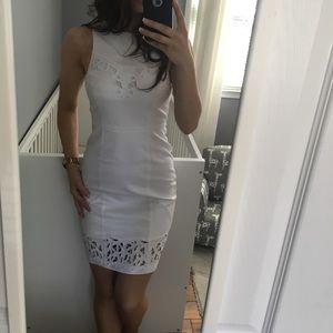 C.3 Tahari white dress